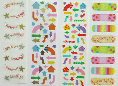 New. Mrs Grossman/'s /& Sandylion 2x12 Sticker Strips  Design Lines-U Choose One