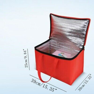 Insulated Pizza Food Delivery Bag Thermal Storage Holder Outdoor Picnic 15''