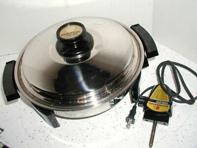 "Kitchen Craft 12"" Electric Skillet 1200 Watt Liquid Oil Core Extra Minty"
