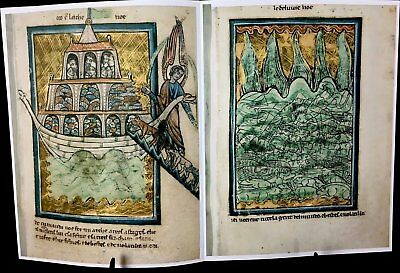 Bible Pictures By William De Brailes, Facsimile, 1250 Ad