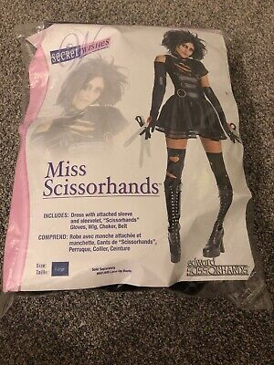 CL601 Edward Scissorhands Miss Scissorhands Fancy Dress Halloween Movie Costume