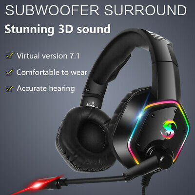 3.5mm K15 Gaming Headset RGB LED Headphones for PC Laptop PS4 Slim Pro Xbox One
