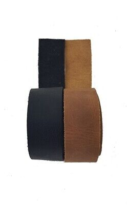 Leather Strips & Straps Black & Brown 64 cm long 25 mm wide 1.5 mm Thick