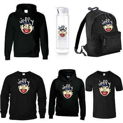 Jeffy The Puppet T-Shirt Hoody Sweat Bottle Bag Funny Joke Print Youtuber