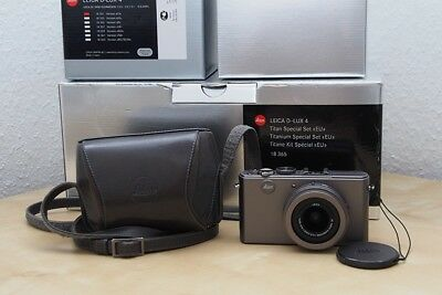 Leica D-LUX 4 10,1 MP Digitalkamera - Limited Edition Titan Titan-Grau Titanium