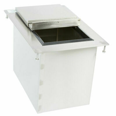 "18"" x 12"" 20 Gauge 304 Stainless Steel NSF Drop-In Insulated Underbar Ice Bin"