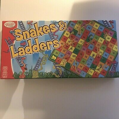Snakes And Ladders Traditional Board Game Set Kids Adult Toy Classic Family Fun