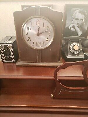 Sessions Westminster Art Deco Electric Chime Wooden Clock Model 68 D Clock Works