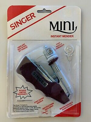 Singer Mini Mender Instant Mender Hand Held Needle Threader NOS - SEALED - NIB
