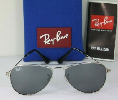 NEW AUTHENTIC RAY BAN Silver Aviator Junior Kids' RJ 9506S 212/6G Sunglasses