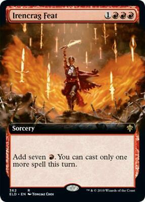 Extended Art Irencrag Feat Near Mint Normal English Throne of Eldraine Card MTG