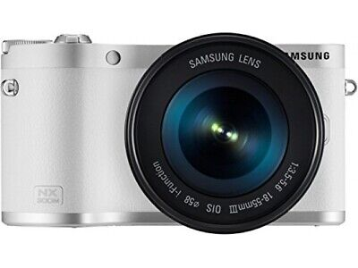 "Samsung NX300M [20.3MP, Full HD, 3,3""] weiß inkl. 18-55mm 1:3,5-5,6 OIS III Ob S"