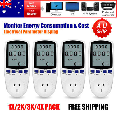 240V Power Meter Energy Voltage Wattmeter Consumption Electricity Usage Monitor