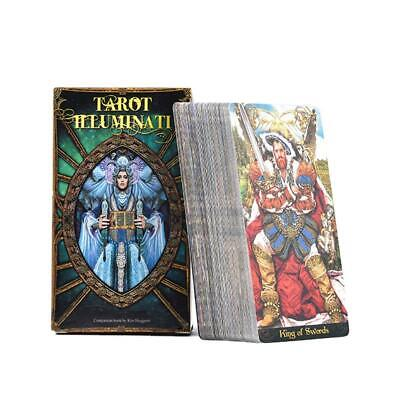 Illuminati Full-color For  ) Cards (English Family Party 78pcs Deck Game Tarot