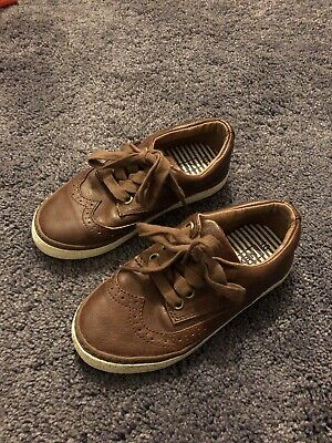 Next Infant Boys Brown Tan Brogues Trainers Laces Size 10