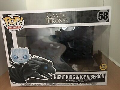 "/""Night King /& Icy Viserion Vinyl Figur 58/"" Funko Glow POP RIDES Game of Thrones"