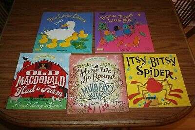 5 Nursery Rhyme Picture Books Lot Child's Play Toms Mulberry Star Spider Farm