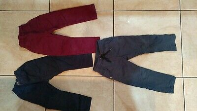 3 pairs boys smart occasion trousers chinos