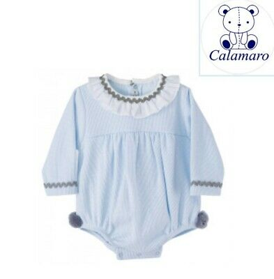 SPANISH BABY Girls Boys Unisex Pom Pom Romper 18m Brand New