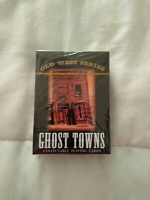 Old West Series Ghost Towns Poker Style Playing Cards 52 Unique Color Images NEW