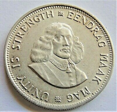 1964 SOUTH AFRICA, silver 20 Cents grading UNCIRCULATED.