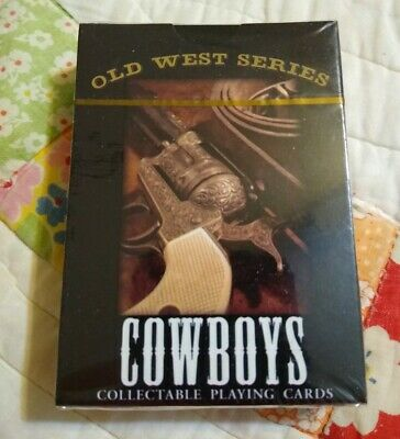 Old West Series Cowboys Poker Style Playing Cards 52 Unique Color Images Sealed!
