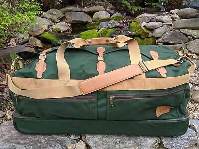 "Field & Stream Expedition Series X-Large 36"" Green Canvas Rolling Duffel Luggage"