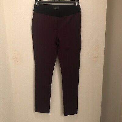 WHITE HOUSE BLACK MARKET Women's The Skinny Ankle Pants SIZE 0P Maroon NEW