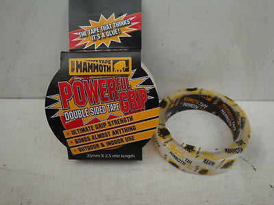 Everbuild 25Mm X 2.5M Double Sided Power Grip  Self Adhesive Mammoth Tape