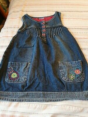 Cherokee Girls Blue Denim Dress Age 3-4 Years