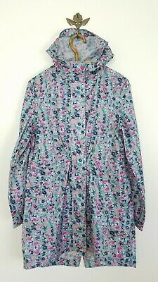 Joules Right as Rain Packable Floral Rain Jacket Womens Size US 6 Small / Medium