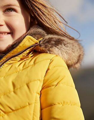 Joules Girls Gosling Quilted Coat  - ANTIQUE GOLD Size 7yr-8yr