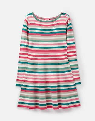 Joules Girls Janey Knit Skater Dress 3 12 Years in MULTI STRIPE