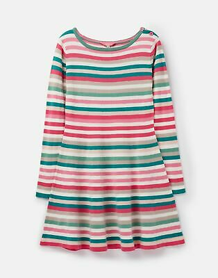 Joules Girls Janey Knit Skater Dress  - MULTI STRIPE