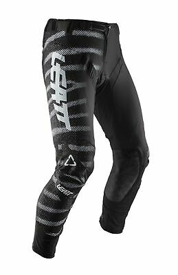Leatt GPX 5.5 I.K.S Zebra Mens MX Offroad Pants Black XL/36 USA/54 EU