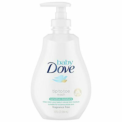 4 Pack Baby Dove Sensitive Moisture Tip To Toe Wash 13Oz Each