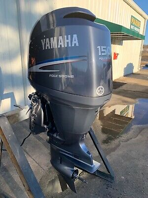"Clean Used 2004 Yamaha F150 HP 4 Cylinder EFI 4 Stroke 20"" (L) Outboard Motor"
