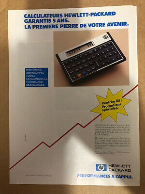 Publicité Calculateur Hewlett Packard 1985 Pr