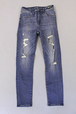 Abercrombie & Fitch Women's Ripped Super Skinny Jeans HD3 Medium Wash Size 2S