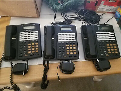 Lot of 3 AT&T 4 Line Model 954 Telephone Phone W/ Power Supply