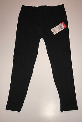Girls Basic Edition Leggings NEW Cable Pattern Stretch Pant Toddler 4T Black NWT