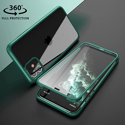 Heavy Duty 360° Hybrid Shockproof Phone Case Cover For iPhone 11 Pro Max X XS XR