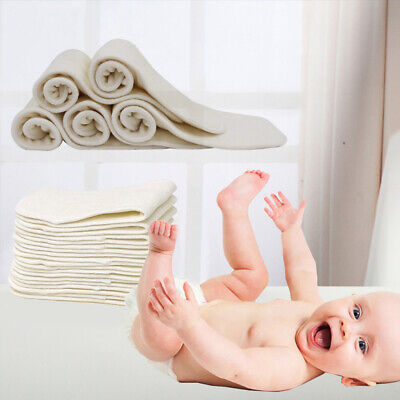 1Pcs Baby Diapers Washable Cloth Nappy Insert 4-layer For Baby Toddlers Reusable