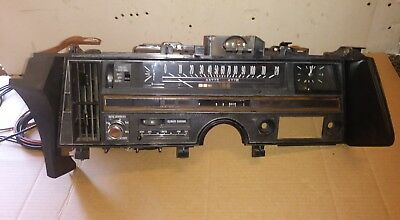 Oem 1969-1970 Cadillac Deville Complete Dash Assembly With Components Shown