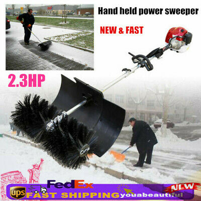 52CC Hand-Held Walk Behind Sweeper Snow Garden Driveway Cleaning Gas Power 2.3HP