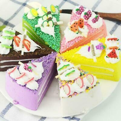 Realistic Artificial Triangle Cake Bakery Window Food Display Photo Props 6pcs