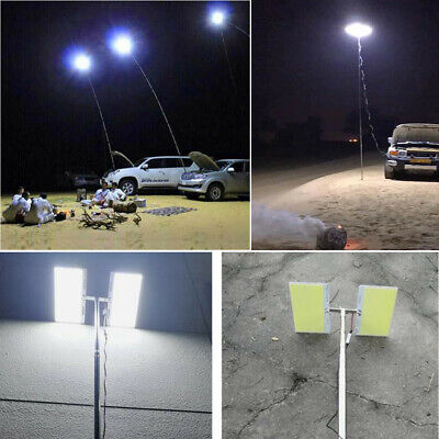 Telescopic COB Rod LED Lights Fishing Outdoor Camping Lantern BBQ Lights Lamp AU