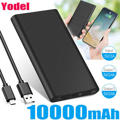 Fast Charging Portable Power Bank 10000mAh Dual USB External Battery Charger