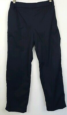 COS Womens Sz 36/S Navy Blue Cropped Straight Leg Pull-on Cotton Pants