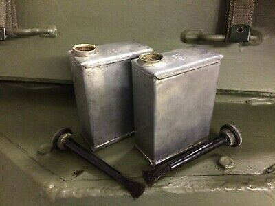 DAIMLER FERRET and SARACEN - MG TURRET OIL BOTTLES, CANS X2, MATCHED PAIR